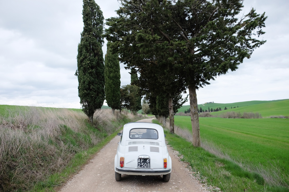 Fiat 500 in der Toskana   © individualicious