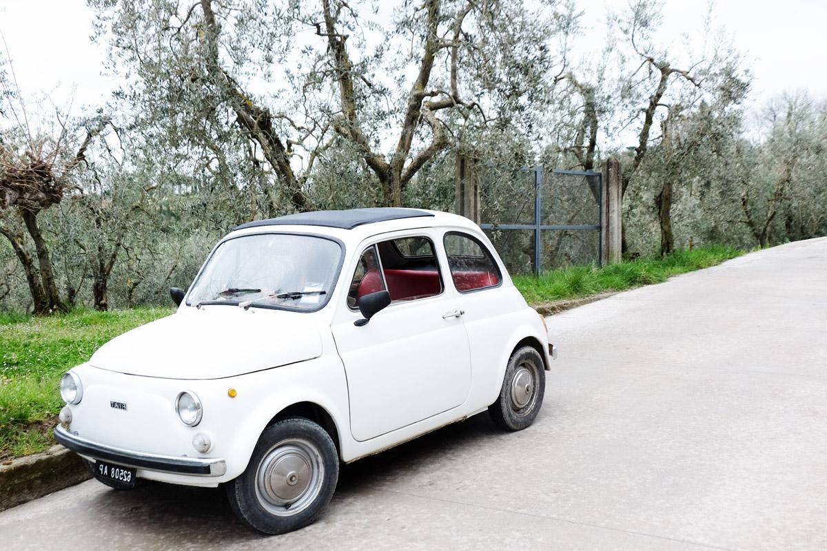 Fiat 500 in der Toskana | © individualicious