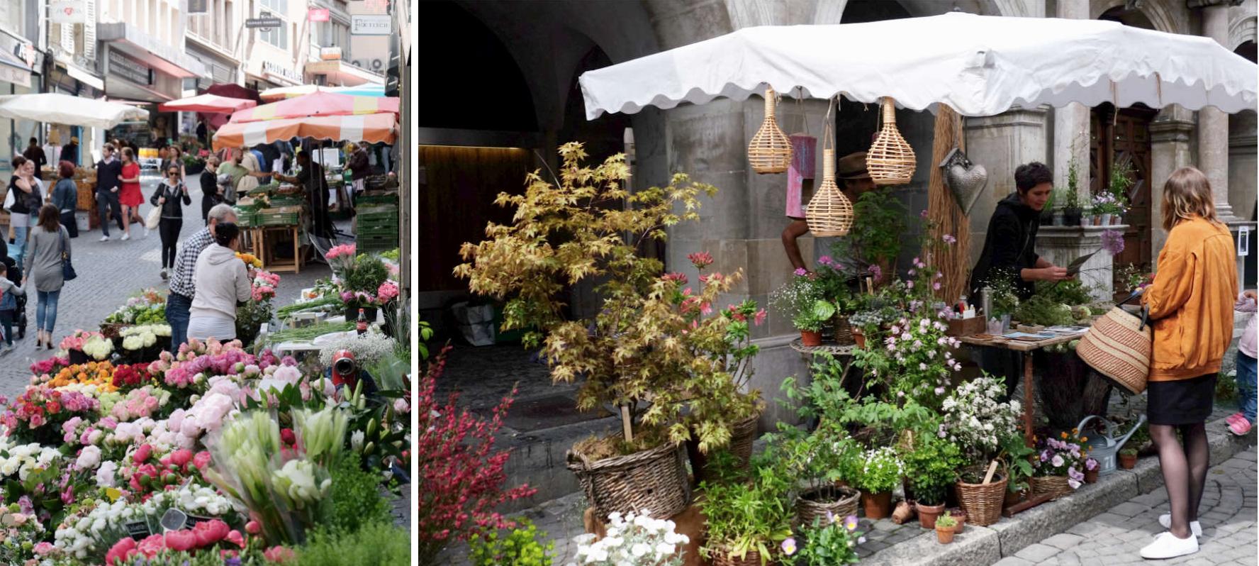 Bauernmarkt in Lausanne | © individualicious
